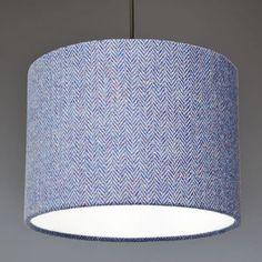 Blue Herringbone Harris Tweed Lampshade