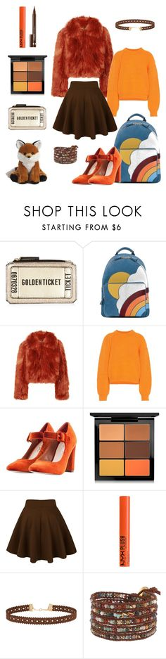 """orange & brown"" by tarparamu ❤ liked on Polyvore featuring Anya Hindmarch, Maison Margiela, Acne Studios, Nasty Gal, MAC Cosmetics, NYX, Miss Selfridge, Chan Luu and Clinique"
