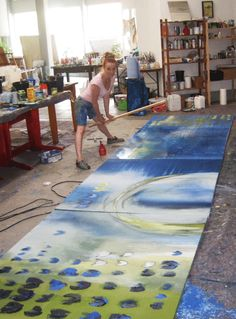 Conny Niehoff - I sure wish I had the studio space for those large works!