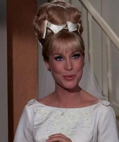Barbara Eden as Jeannie in those 1960s hairstyles