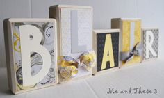 Wooden Block Letters. Obviously for Blair :) <3