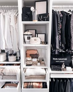 A Woman has two problems: nothing to wear no room for all the clothes Agree? Ikea Pax, Study Organization, Walk In Closet, Interior Inspiration, Classy, Closets, My Style, Storage, Room