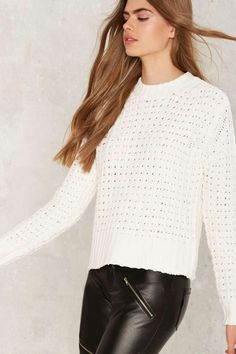 Knitty Attitude Waffle Sweater - Sale: Newly Added | Sale: 40% Off | Knits | Pullover | Sweaters