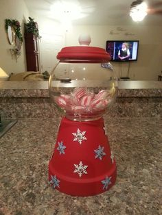 Gumbell candy dish