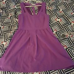 Purple forever 21 dress Super cute dress from forever 21. Pretty purple and looks really cute with sandals, heels, or wedges Forever 21 Dresses