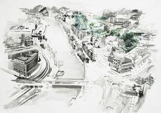 "#Pintura  ""Donde todo es blanco""  150 x 190 cm  Acrílico sobre canvas  Ana Abrergú, 2011"