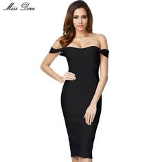 2016 new white black red beige off shoulder elegant luxury bodycon sexy women strapless knee-length evening party bandage Dress Xavier Rudd, School Uniform Skirts, School Uniforms, Casual Dresses, Short Dresses, Formal Dresses, Evening Dresses, Junior, Dress Makeup