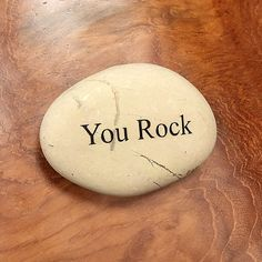 Engraved Stones  Beach Pebble Stone -  You Rock