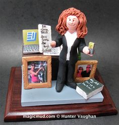 Corporate wife's Christmas Gift  by www.magicmud.com 1 800 231 9814 creating a custom made gift figurine for any woman based on the things she likes to do! ...incorporating her work, sports, family, hobbies, food, drink, shopping, etc.   $225 #vet #veterinarian #mom #mother #momsgift #wife #christmas #birthday #anniversary #custom #personalized #xmas #present #award #ChristmasGift #BirthdayGift #sister #girlfriend #aunt #BFF