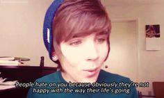 Damon Fizzy- People hate on you because obviously they're not happy with the way their life's going.