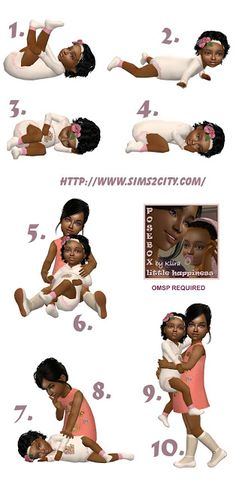 Sims2City: Little Happiness Posebox Sims Baby, Sims 4 Toddler, Toddler Poses, Baby Poses, Sims 4 Download Free, Sims 4 Photography, Sims Traits, Sims 4 Family, Sims 4 Children