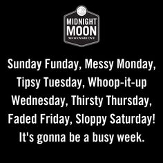 Sunday Funday, Messy Monday, Tipsy Tuesday, Whoop-it-up Wednesday, Thirsty Thurs… - cocktail Funny Thursday Quotes, Thursday Humor, Funny Quotes, Quotes To Live By, Life Quotes, Bar Quotes, Messy Monday, Bartender Funny, Cocktail Quotes