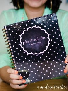 A Modern Teacher Black & White Polka Dot Planner - A fresh, functional, and fabulous Teacher Binder to keep you organized! from www.amodernteacher.com $