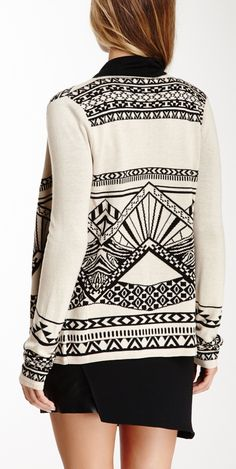 Tribal print cardigan