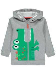 Boys Character Hoodies Online: Crocodile Zip Up Hoodie – Novelty-Characters