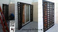 Grill Door Design, Casa Loft, Industrial Farmhouse, French Doors, Patio, Balcony, New Homes, Bear Mountain, Furniture