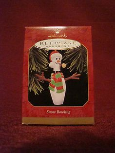 "Bowling pin Christmas ornament - ""Snow Bowling"" by Hallmark"