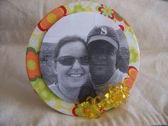 Porta retrato feito com CD