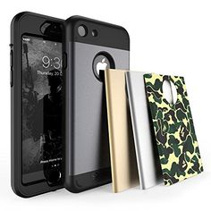 TOTU iPhone 7 Case Water Resistant Shock Absorbing Falling Preventing Protective Case Best Heavy Duty 4 Interchangeable Covers for Apple iPhone 7 inch Iphone 7 Cases, Iphone 5s, Iphone 8 Plus, Apple Iphone, Iphone Deals, Iphone Hacks, Gold Box, Best Iphone, Ipad Mini
