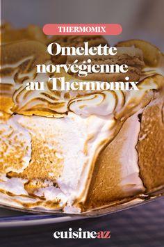 L'omelette norvégienne est un dessert qui se compose d'une glace vanille, d'un biscuit léger et moelleux et d'une meringue à l'italienne. C'est facile à réaliser au Thermomix !  #recette#cuisine#omelettenorvegienne#patisserie  #robotculinaire  #thermomix Omelette Norvégienne, Biscuits, Meringue, Robot, Peanut Butter, Dessert, Cooking Recipes, Crack Crackers, Merengue