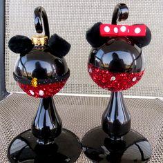 Minnie and Mickey Mouse Christmas Ornament, Disney Ornament. $14.00, via Etsy. @Kelly Teske Goldsworthy Teske Goldsworthy Teske Goldsworthy honea  thought of you too cute!