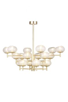 18 arm Renaldo Chandelier shown in Champagne