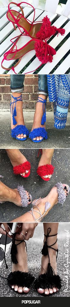Do you want to know what your favorite fashion bloggers are all obsessed with? We're seeing these bright colored Aquazzura heels all over our feeds – and we totally get it! | cynthia reccord