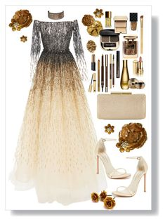 A fashion look from March 2018 featuring tiered gown, ankle tie sandals and hardcase clutch. Browse and shop related looks. Elegant Outfit, Classy Dress, Classy Outfits, Chic Outfits, Pretty Outfits, Pretty Dresses, Fashion Outfits, Date Night Outfit Curvy, Date Night Dresses