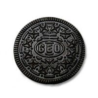 Oreo geocookie ¶ I own one. It's hefty, well made, and waaaaay too valuable just buy and toss in a cache somewhere. I got mine as a memento for *my* love of caching, but at least save it for a special cache or journey and then set it free.