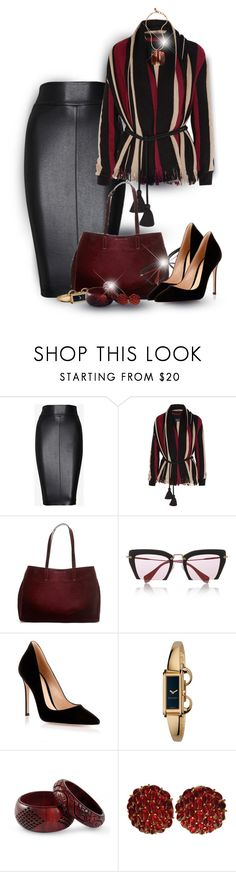 """Jackie #2456"" by gaburrus ❤ liked on Polyvore featuring Bailey 44, Lanvin, Banana Republic, Miu Miu, Gianvito Rossi, Gucci, NOVICA and Ciner"