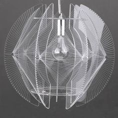 Graham and Green wire chandelier inspired by Naum Gabo. We have this shade unwired; time to restore. Totally plexi. ty Retro to Go. via design milk