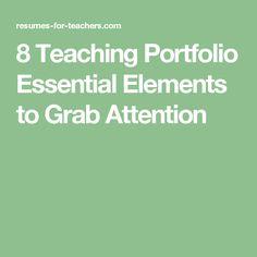 8 Teaching Portfolio Essential Elements to Grab Attention