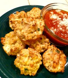 Healthy Pizza Cauliflower Bites recipe- however, I believe it could be used without pizza dough if you use the entire egg.