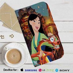 Disney Mulan and Mushu Leather Wallet iPhone 4/4S 5S/C 6/6S Plus 7  Samsung Galaxy S4 S5 S6 S7 NOTE 3 4 5  LG G2 G3 G4  MOTOROLA MOTO X X2 NEXUS 6  SONY Z3 Z4 MINI  HTC ONE X M7 M8 M9 CASE