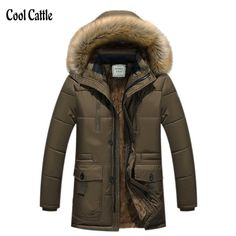 New Brand Clothing Winter Men Jacket Fashion Mens Winter Parka With Fur Hood Casual Warm Men's Coats Thick Long Parkas Homme 5XL #>=#>=#>=#>=#> Click on the pin to check out discount price, color, size, shipping, etc. Save and like it!