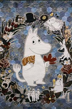 Come in, dear, the door's always open! Super Cool Stuff, International Quilt Festival, Moomin Valley, Tove Jansson, Little My, Children's Book Illustration, Totoro, Fairy Tales, Applique
