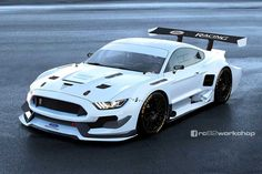 Brutal Pixel Study: De Ford Mustang Shelby R als een radicale raceauto Ford Mustang Shelby, New Mustang, Mustang Cars, 2015 Mustang, Mustang Tuning, Auto Motor Sport, Sport Cars, Race Cars, Car Ford