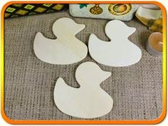 Duck 9cm x 3 - Duck wooden craft shapes x 3, Craftshapes