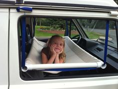 Smart way to add a bed to your Volkswagen Vanagon! Great camping tip.