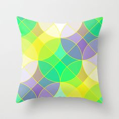 Throw #pillow on #Society6 with design by Natalia Bykova. #geometric, #abstraction, #circles, #squares, #mosaic, #pattern, #throwpillow, #homedecor, #abstract, #print