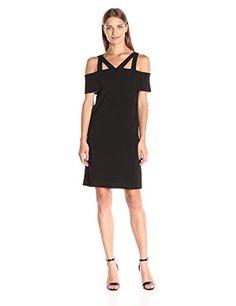 Ella moss Women's Thabo Cold Shoulder Dress, Black, M Ell...