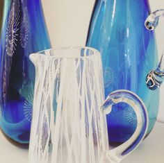 The very talented glass blower Scott Benefield has delivered a new range of hand-blown glass vessels to us here at Space CRAFT, Belfast! These are stunning and a must see in our shop area in the centre of Belfast - Go Up That Escalator!