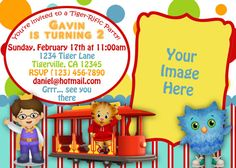 Daniel Tiger Birthday Invitation By Thegalaemporium On Etsy 15 00