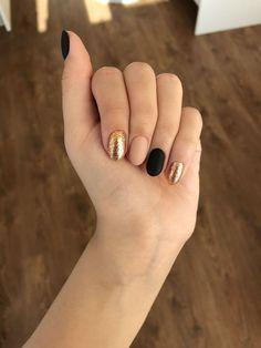 New Gel Manicure Designs Short Nails Style 36 Ideas Nails Polish, Gelish Nails, Gel Manicure, Matte Nails, Diy Nails, Manicure Ideas, Nail Tips, Nail Ideas, Nagel Hacks