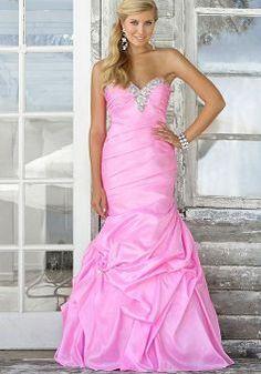 Sweetheart Taffeta Mermaid Asymmetric Waist Floor Length With Crystal Prom Dress - Angeldress.co.uk