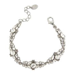 With clear and smoky crystals this sparkling bracelet looks like a precious heirloom.