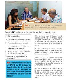 REDACCIÓN SINDICAL MADRID: UGT en lucha por la regulación de los horarios com...