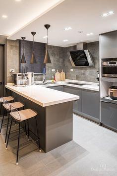 33PY 이색적인 분위기로 연출된 33평아파트인테리어Design Fusion 안녕하세요 디자인퓨전입니다 :)오늘... New Kitchen Designs, Kitchen Ideas, Kitchen Island, Minimalism, Environment, Home Decor, Island Kitchen, Decoration Home, Room Decor
