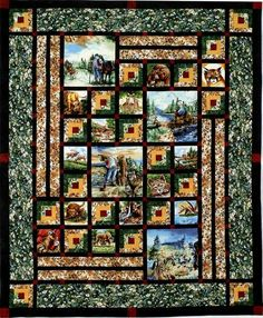 Animas Quilts - A Quilters Paradise on the Internet. Pattern using fabric panels