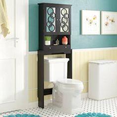 17 Stories 61 x 170 cm Toiletten-Regal Fordingbridge Cabinet Shelving, Storage Cabinets, Storage Drawers, Open Shelving, Storage Shelves, Adjustable Shelving, Storage Spaces, Glass Shelves, Wall Shelves